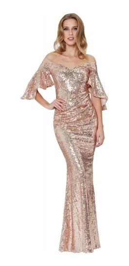 Vestido De Lentejuela Dorado Sexy Glam. Modelo Nuevo!!