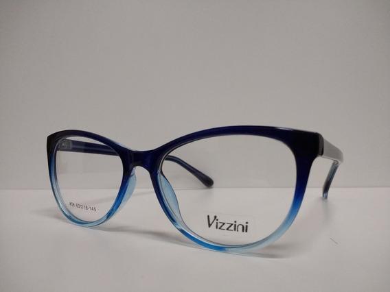 Armazon Anteojos Marco De Receta Vizzini 6 Diseño Color Moda