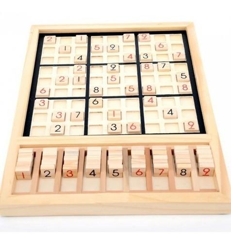 Sudoku De Encaje Y Fichas De Madera