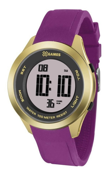 Relógio X Games Feminino Ref: Xmppd498 Rxrx Digital Dourado