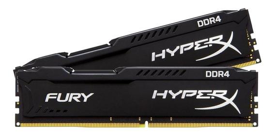 Memória Hyperx Fury 2x8gb Ddr4 2400mhz Cl15 Preto C/nf-e