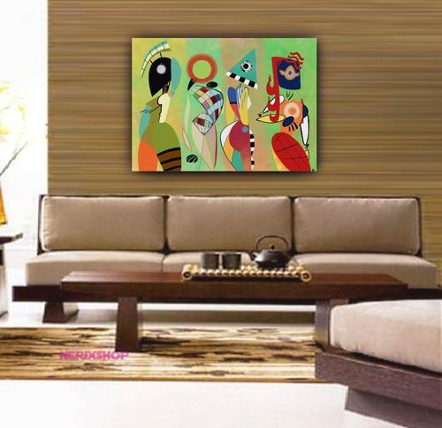 Imagem 1 de 1 de Poster Foto Hd 60x90cm Kandinsky Arte Obra Las Musas