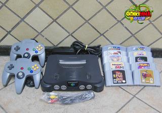 N64 Nintendo 64 Completo + 10 Jogos + Garantia Mario 007