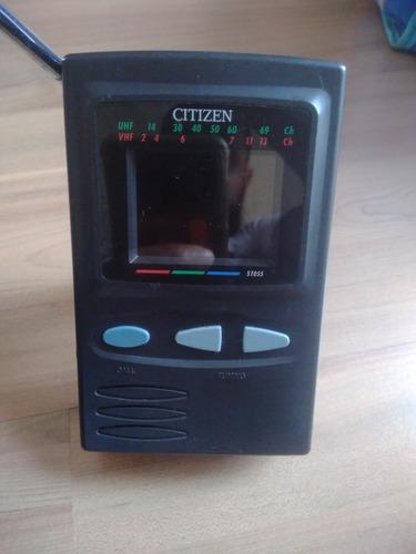Mini Tv Portátil Citizen St055 - Não Funciona