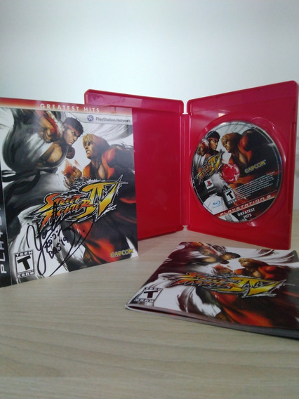 Street Fighter Iv Autografado Por Yoshinori Ono