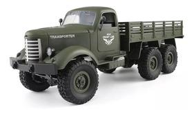 Caminhão Militar Truck Jjrc Q60 6wd 6x6 1:16 P. Entrega