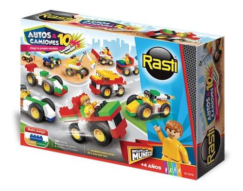 Rasti Bloques Ladrillos Autos Y Camiones 100 Piezas Edu Full