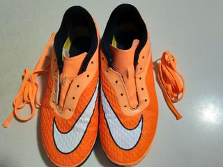 Tennis Nike Hipervenom Naranja Originales Talla 23