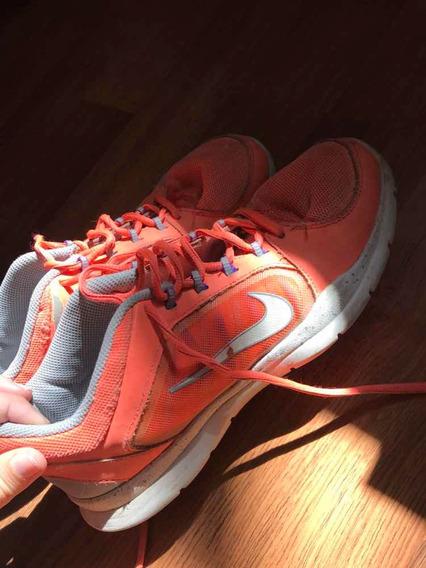 Zapatillas Nike Training Naranjas Usadas