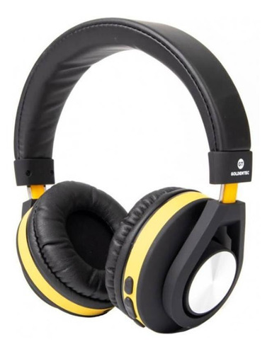 Headphone Bluetooth Gt Follow Goldentec Amarelo Gt5btam