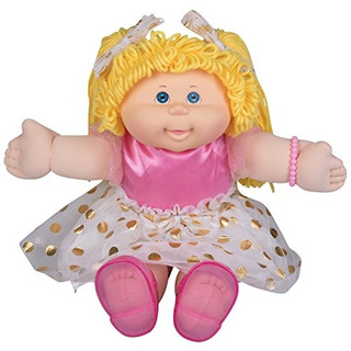 Cabbage Patch Kids Vintage Retro Style Hilado Muñeca - Origi