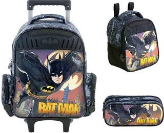 Kit Mochilete+ Lanch+ Estojo Batman Gotham Xeryus M -7591