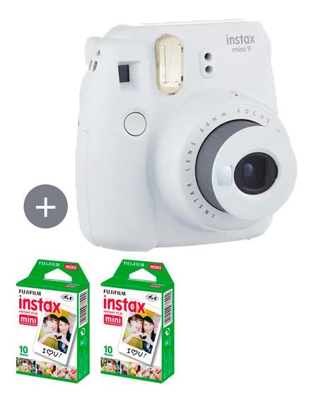 Câmera Instax Mini 9 Branco Gelo + 20 Fotos