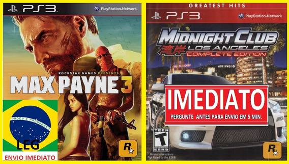 Max Payne 3 + Midnight Club Los A. Ps3 Psn - Midia Digital