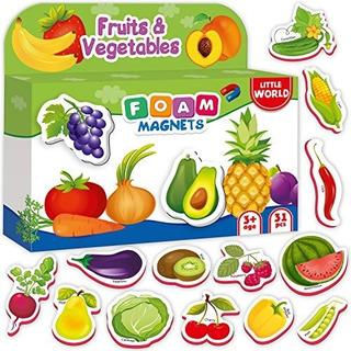 Imanes Para Frigorificos Para Niños Frutas Y Veggies 31 Pza