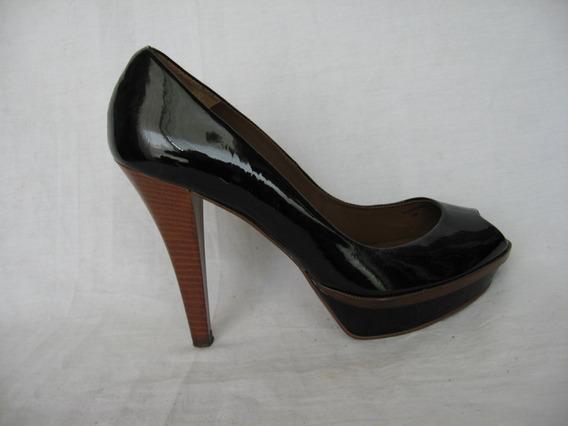 Zapatos Zara Woman, N° 40, Cuero Charol