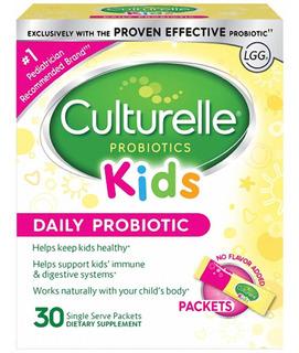 Culturelle Kids Probiótico Uso Diário 30 Sachês Sem Sabor