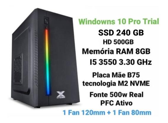 Pc Gamer I5 3550 - Ssd 240gb - Hd 500gb - Ram 8gb