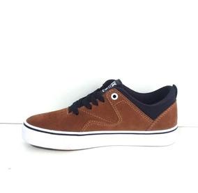 Tênis Qix Foot Flip Cognac/marinho Lançamento