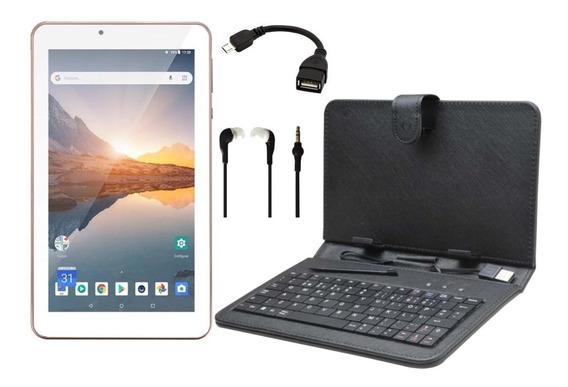 Tablet M7s Plus Rosa 16gb Android 8.1 Tela 7 + Capa Teclado