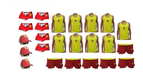 Kit Guarda Vidas - 9 Regatas - 6 Shorts - 6 Sungas - 3 Bonés