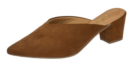 Sapato Feminina Mule Salto Alto Grosso Sapatilha Scarpin G3