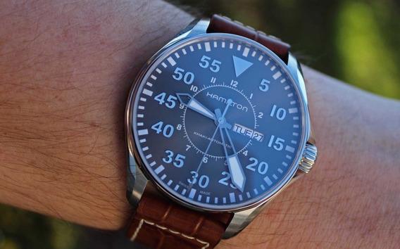 Relógio Hamilton Khaki Aviation Pilot Automatic H64715885