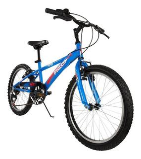 Bicicleta Rodado 20 Niño Azul Con Cambios Garantia Local
