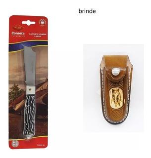 Canivete Folha Larga Com Bainha De Brinde Corneta Original