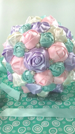 Ramo Bouquet Novia Y Xv Años Colores Pastel
