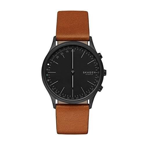 Reloj Inteligente Híbrido De Cuero Y Acero Inoxidable Jorn P