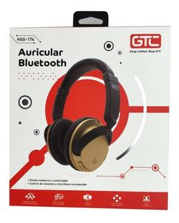 Auricular Bluetooth Gtc Hsg-174 Con Microfono Edicion Dorada