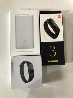 Kit Xiaomi Mi Band 3 + Mi Band 2 + Pawer Bank 10000 Mah Aqui