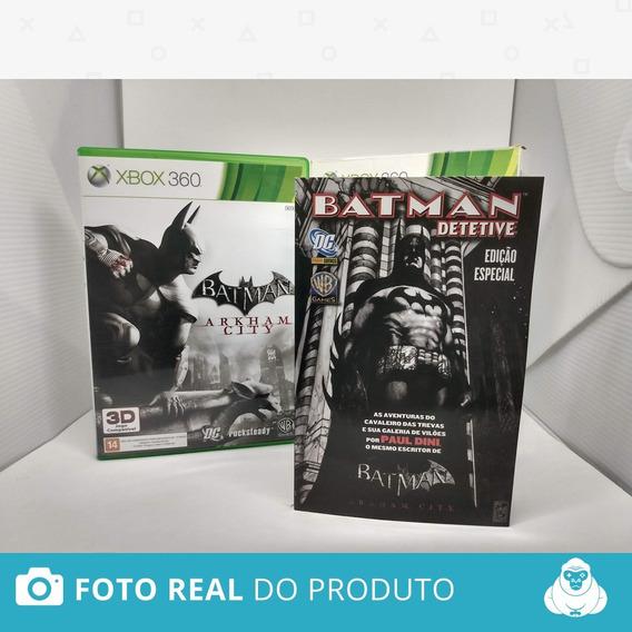 Batman Arkham City Edição Especial Com Hq Xbox 360