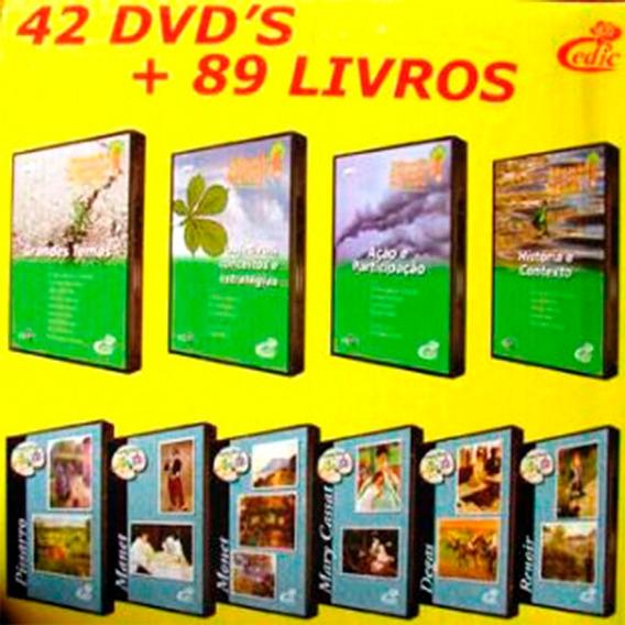 Coleção Acervo Cultural Cedic - 89 Livros+42 Dvds - Promoção