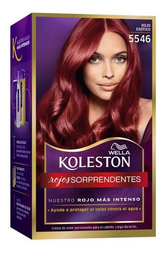 Tintura Wella Koleston Kit Permanente Rojo Exotico 5546