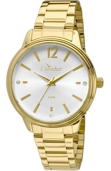 Relógio Condor Feminino Dourado Banhado Co2035kmh/4k - Nf