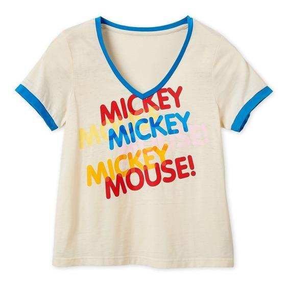 Disney Parks Playera Mickey Mouse Rainbow 2019
