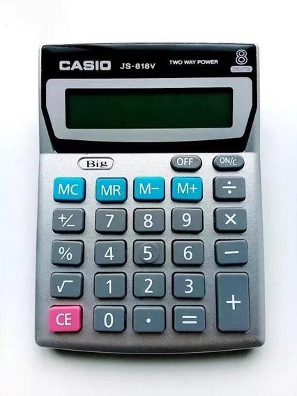 Calculadora Original Casio Js 818v 8 Digitos Solar Oficina