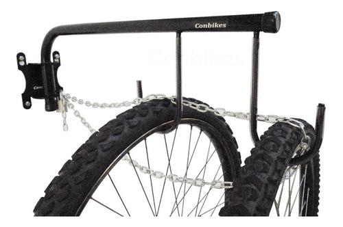 Gancho Soporte Rebatible Pared Colgar 2 Bicis + Seguridad
