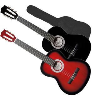 Guitarra Acustica Criolla Cuerdas Nylon Funda Pua Combo Full