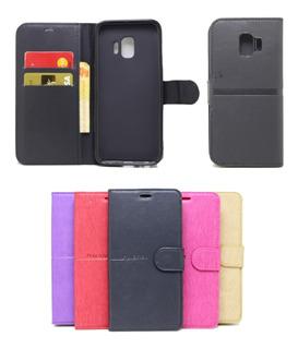 Capa Capinha Carteira Galaxy J2 Core Flip Case Cores Lisas