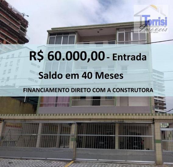 Kitnet Em Praia Grande, Sala, Cozinha, Wc Social. Prédio Com Garagem Na Guilhermina Kn0138 - Kn0138