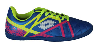Chuteira Lotto Futsal Azul/verde (100% Original) Com N F