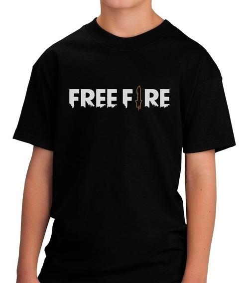 Camiseta Free Fire Game Jogador Camisa Criança Infantil