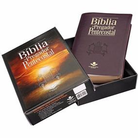 Bíblia De Estudo Pregador Pentecostal +índice+teologia+caixa