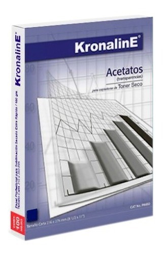 Acetatos Copiadora Toner Seco Carta 25pzs Kronaline Pa656