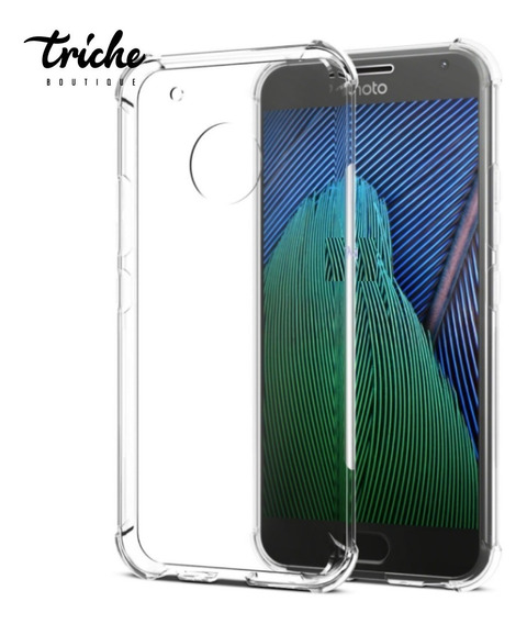 Funda Case Transparente Resistente Antishock Moto G5 Normal