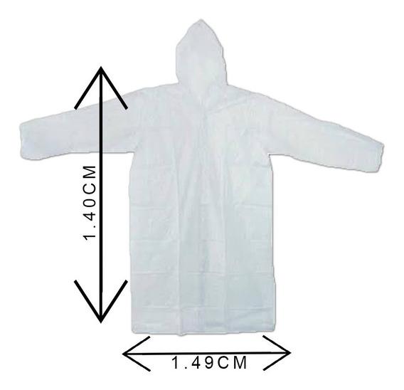 Capa De Chuva Descartável Kit Com 10 Peças