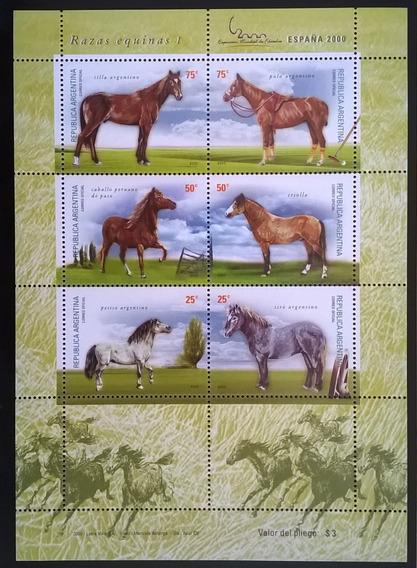 Argentina Fauna, Bloque Gj Hb 132 Equinas 1 2000 Mint L12426